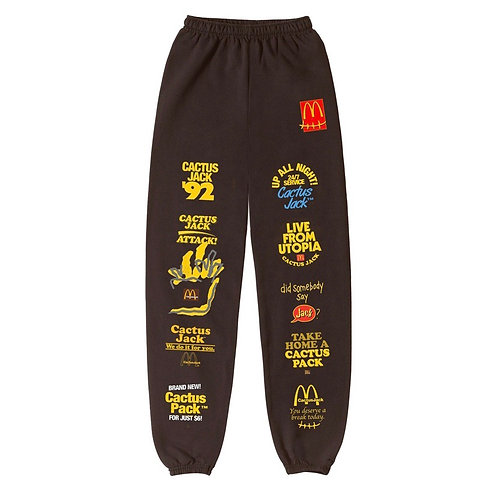 Travis Scott x McDonalds - Cactus Jack Sticker Bomb Sweatpants