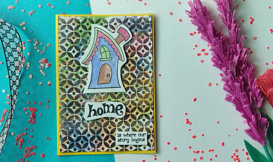 Handmade Greeting - Home is where you are