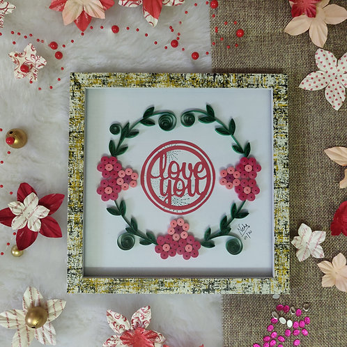 Paper Quilling - Love You Wreath (Pink)