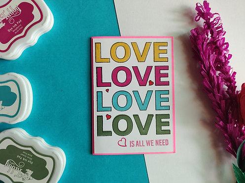 Handmade Greeting - Love Love Love