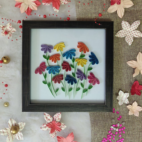 Paper Quilling - Rainbow Flowers
