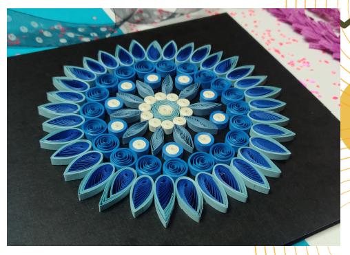 Paper Quilling Mandala - Blue