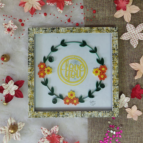 Paper Quilling - Love You Wreath