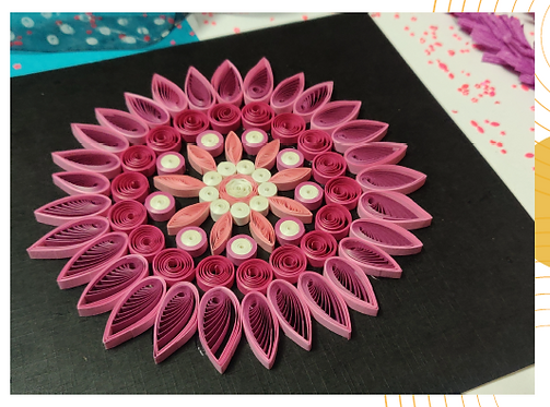 Paper Quilling Mandala - Pink