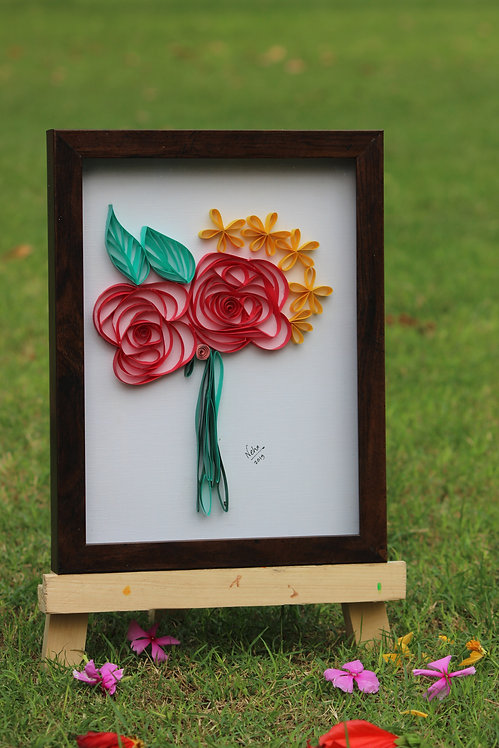 Paper Quilling - Bunch of Roses