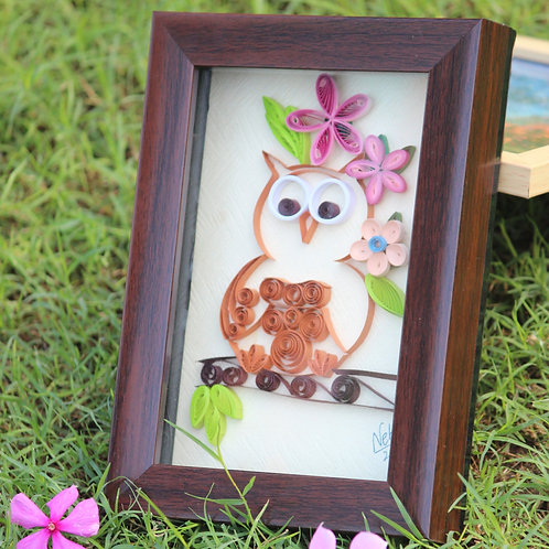 Paper Quilling - Baby Owl