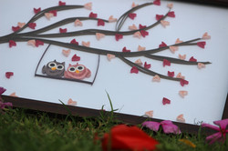 Quilling Love Wall Piece