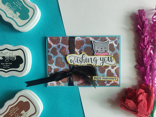 Handmade Greeting -Happy Anniversary