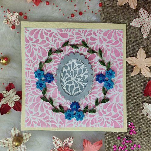 Paper Quilling -Wreath Photo Frame