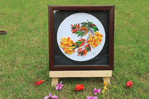 Paper Quilling - Inverted Fall Bouquet