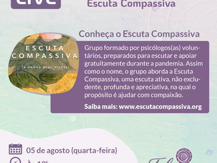LIVE SOBRE PSICOTERAPIA E MEDITAÇÃO