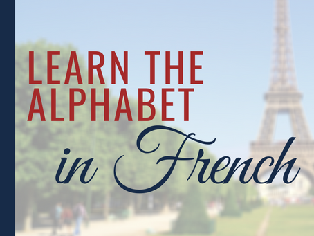 Learn the Alphabet in French