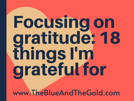 18 Things I'm Grateful For