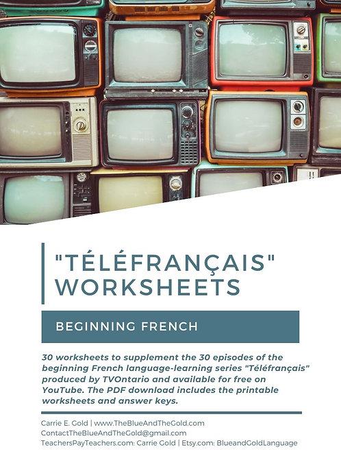 """""""Téléfrançais"""" Video Worksheets"""