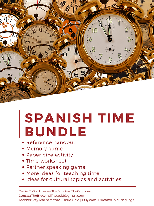 Spanish Time Bundle