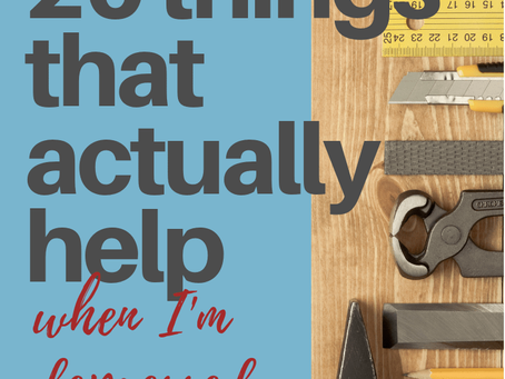 """My """"survival"""" list of 20 things that actually help when I'm depressed"""