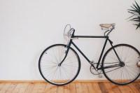 Black Fixed-gear Bike Beside Wall