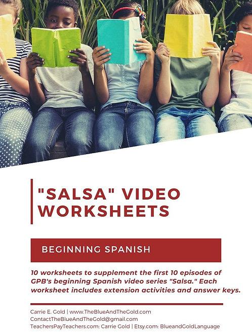 """Salsa"" Video Worksheets (Videos 1-10)"