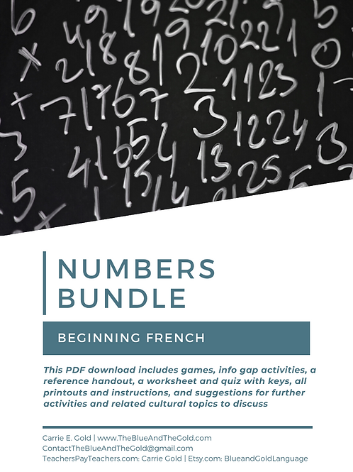 Numbers Bundle: French