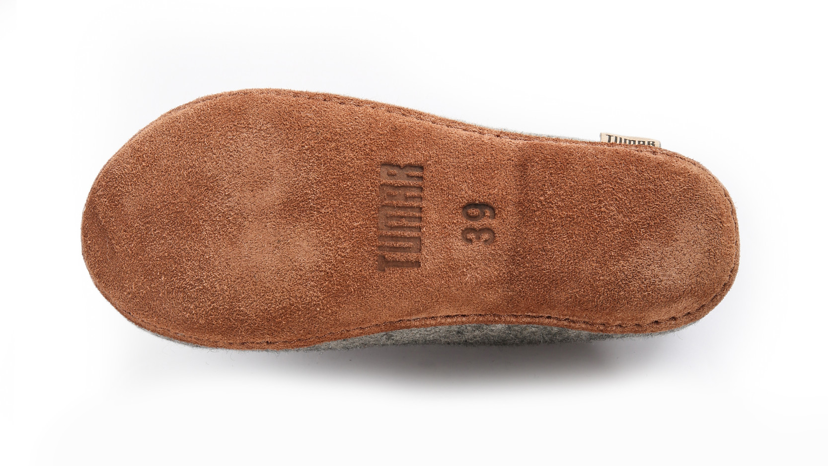 Embossing on leather outsole