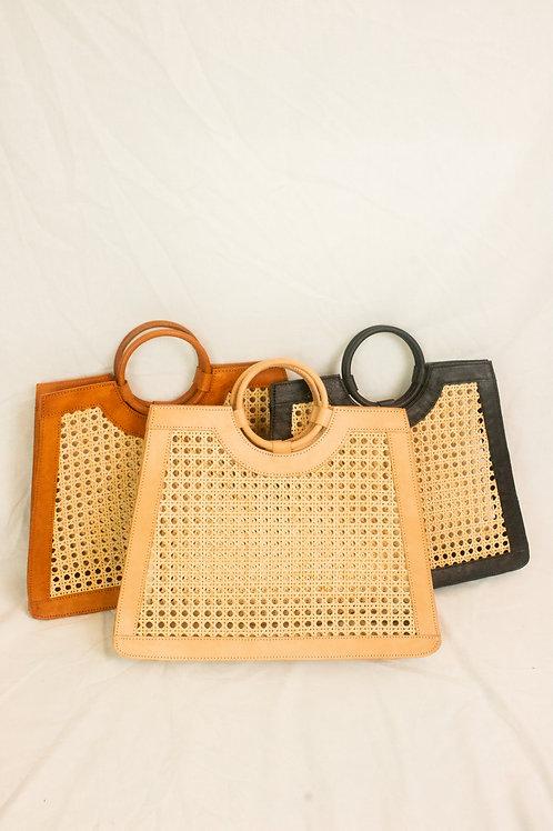 Melani Webbing Bag with Round Handle