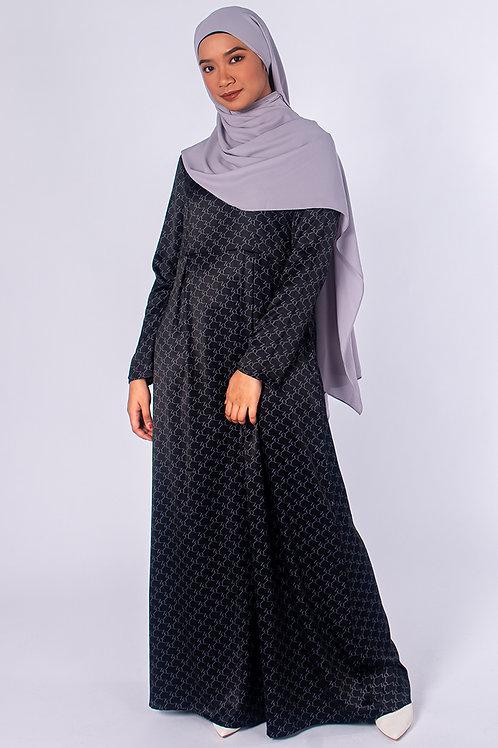Monogram Pleated Dress