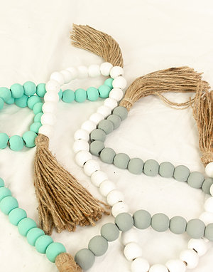Long Decor Beads with Natural Tassle