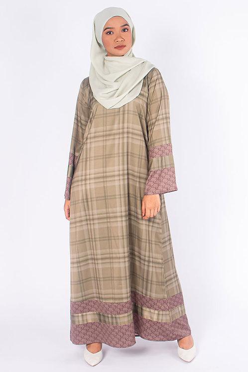 Monogram Plaids Kaftan Dress