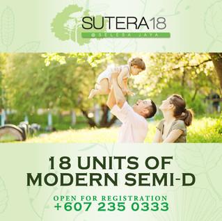 Sutera 18 Open For Registration