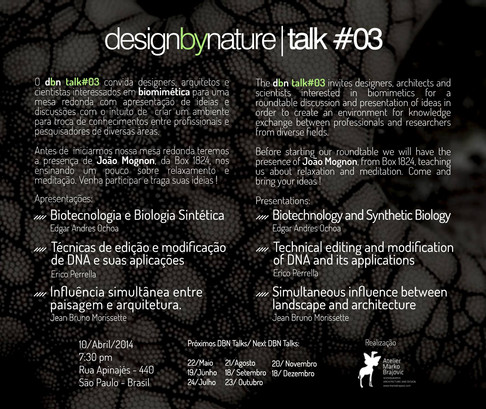 Talks by Nature 2014