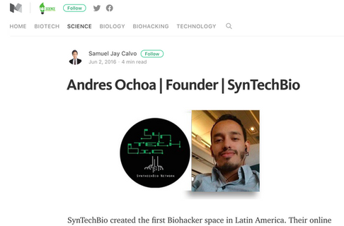Andres Ochoa | Founder | SynTechBio