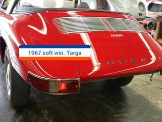 Finished soft window Targa