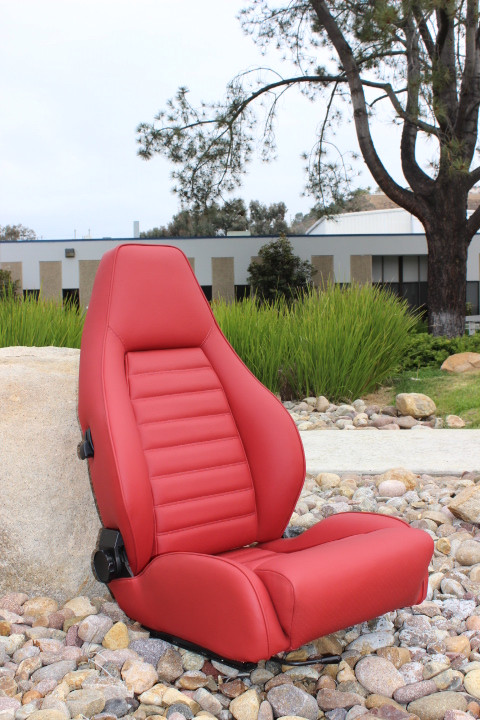 Red leather 1982 911 Turbo / Coupe with inserts