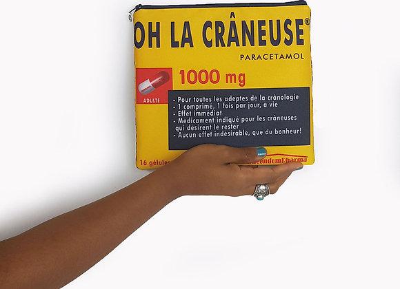 Pochette OH LA CRANEUSE YELLOW