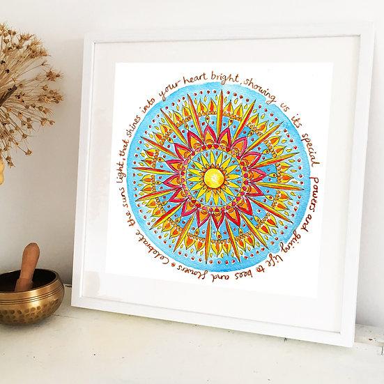 'Sun Mandala' Original