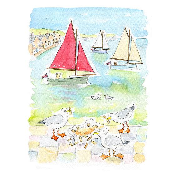 Fish and Ships Print