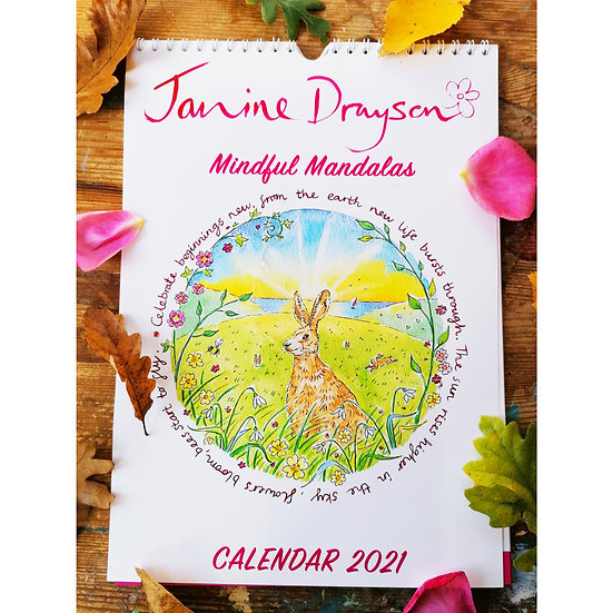 2021 Calendar, Mindful Mandalas