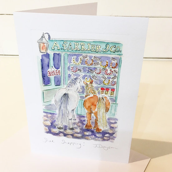 Shoe Shopping Card