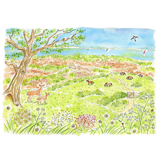 Purbeck to Poole Print