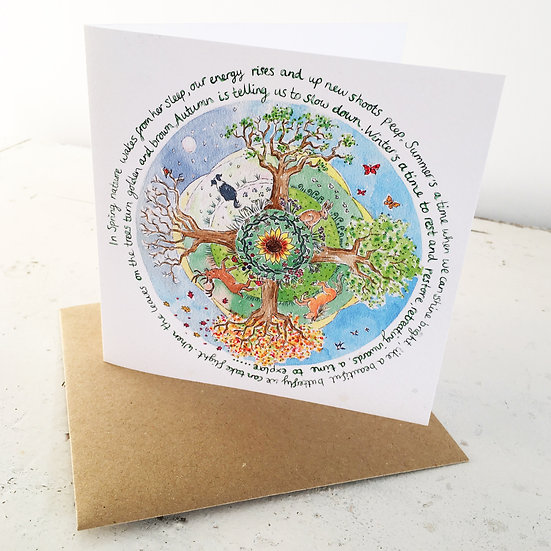 'Wheel of the Year' card