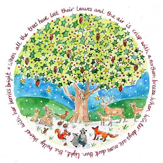 'The Holly Bush' Card