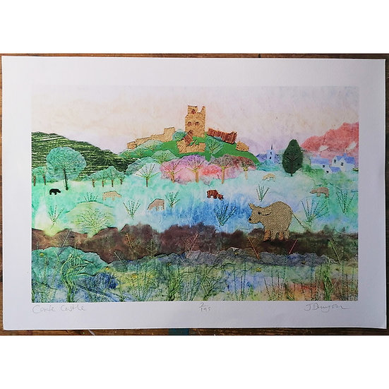 Corfe Castle Collage