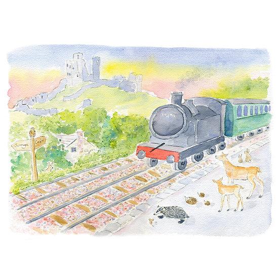 Swanage Steam Train Print