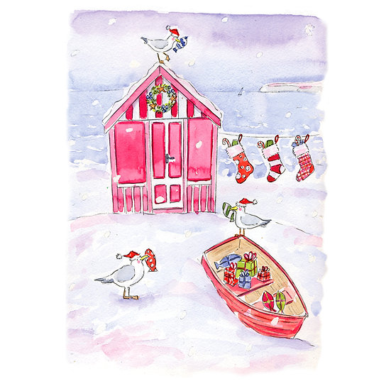 Merry Christmas Beach Hut