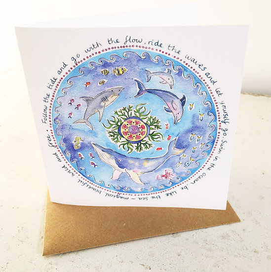 'Go With the Flow' card
