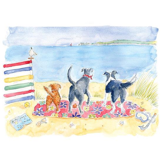 Beach Bums Print