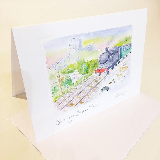 Swanage Steam Train Card