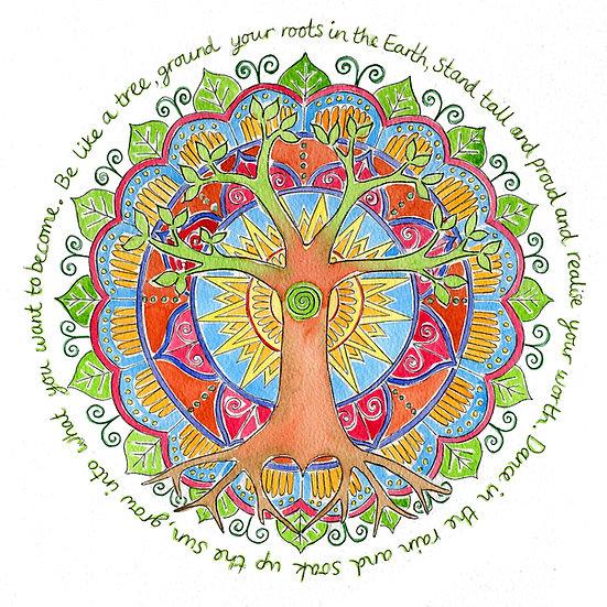 'Be like a Tree' print