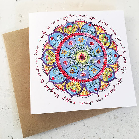 'Your Mind is Like a Garden' card