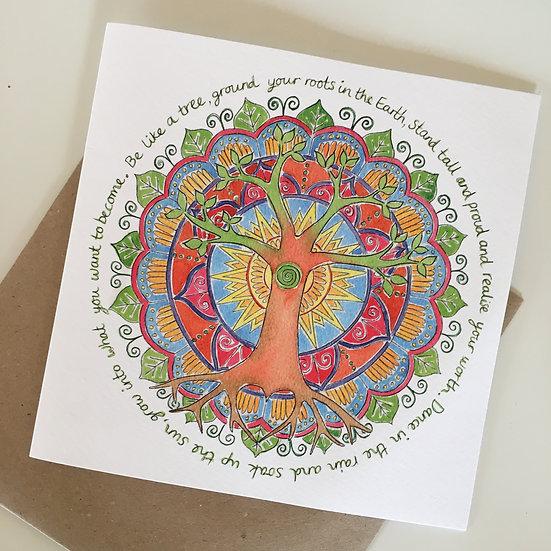 'Be Like a Tree' card